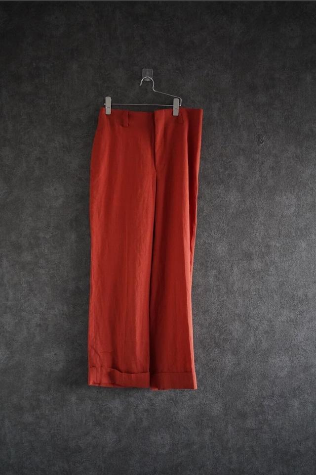 ETHOSENS   Irish linen wide pants  orange