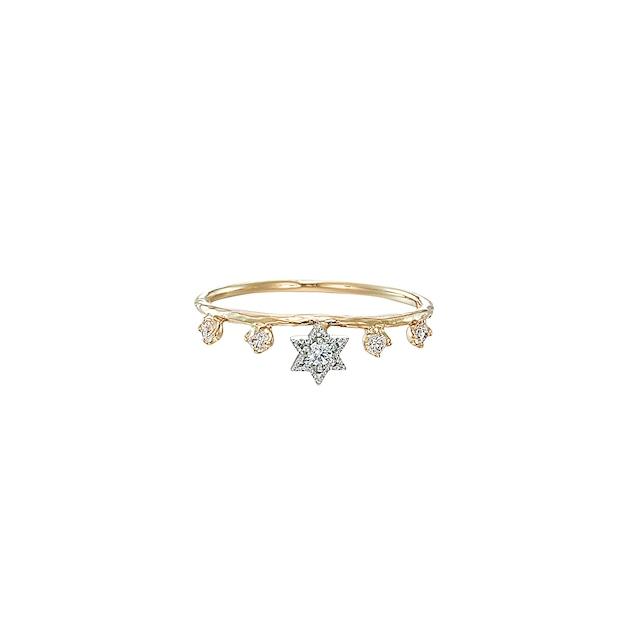 K18 & Pt.900 My Little Star Ring