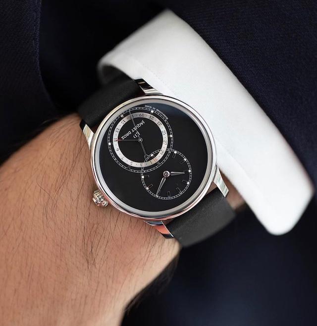 【JAQUET DROZ ジャケ・ドロー】GRANDE SECONDE QUANTIÈME グラン・セコンド カンティエーム(マットブラック)/国内正規品 腕時計
