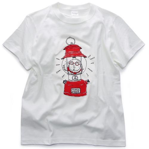 CAMPSオリジナルTシャツ【ランタンおじさん-Red】