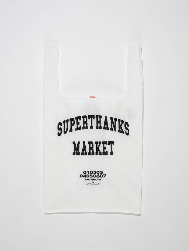 【SUPERTHANKS】 COLLEGE LOGO  EMBROIDERY ECO-BAG