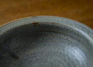 錆浅葱リム中鉢(小鉢・ミニボウル)/吉永哲子