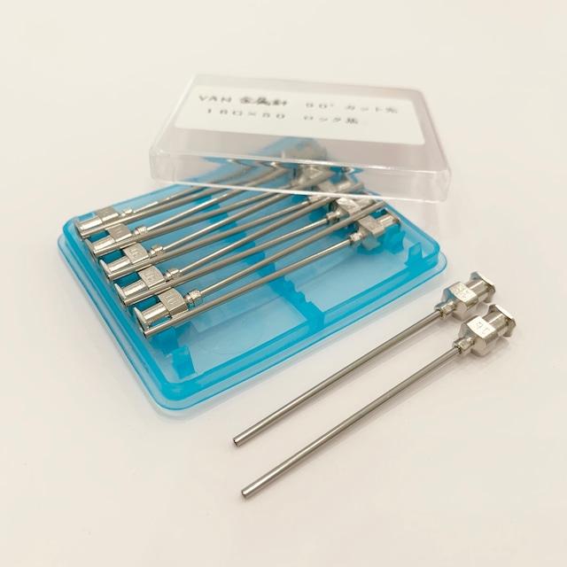 【工業・実験/研究用】 VAN金属針 90°カット先 16G×50 12本入(医療機器・医薬品ではありません)