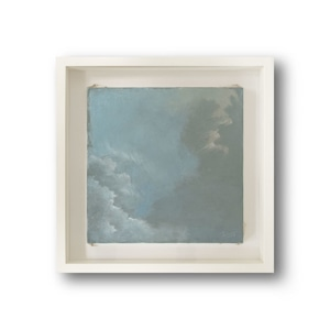 【絵画 油彩】『ある冬の空から』 S5号 額入り