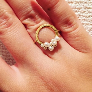 sparkling pearl ring