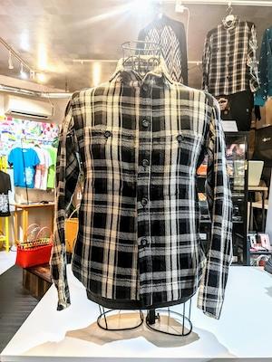チェックシャツジャケットブラック [JS-EA01]
