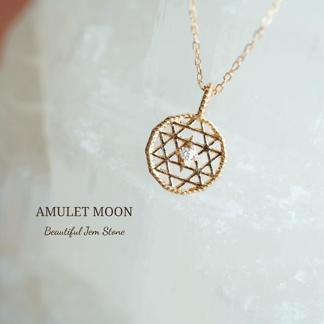 ~MITSU~  宝石質クリスタル K14GF 一粒ネックレス 40cm 45cm