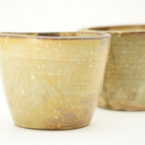 使いみちいろいろフリーカップ 土灰透明釉 2個セット【唐仙窯】