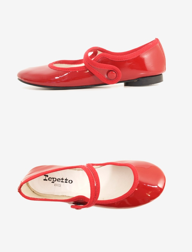 REPETTO MARY-JANE BALLERINA FLAT SHOES
