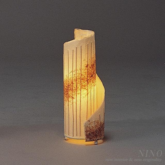 SPIRAL デザイン和紙照明 スタンド  Mサイズ