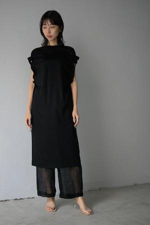 LOKITHO / GATHERED SLEEVE DRESS (black)
