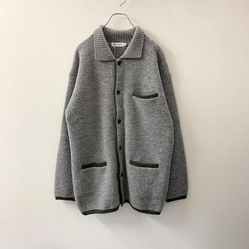 im product / ISSEY MIYAKE ニットジャケット グレー/グリーン size L メンズ 古着