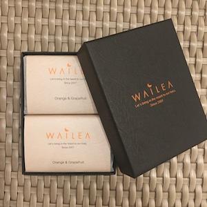 WAILEAオリジナル石鹸 2個セット orange&grape