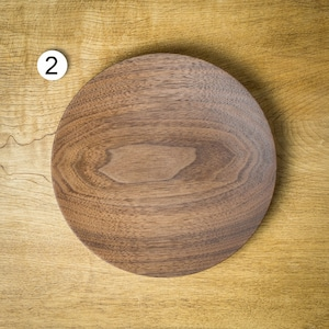ウォールナット材 7寸ウッドプレート(パン皿・木の皿・木製プレート)/Canaria Wood Works
