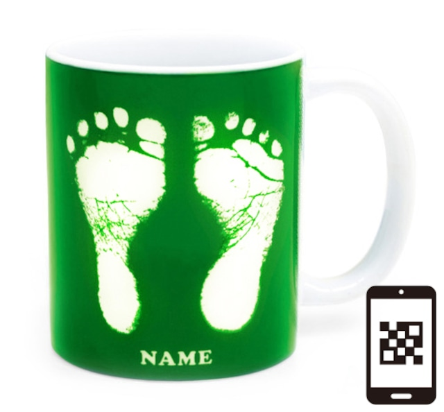 ai mug   A-type (GREEN) QRコード付き