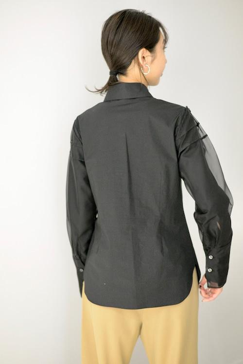 ROOM211 / See Through Sleeve Shirt (black)