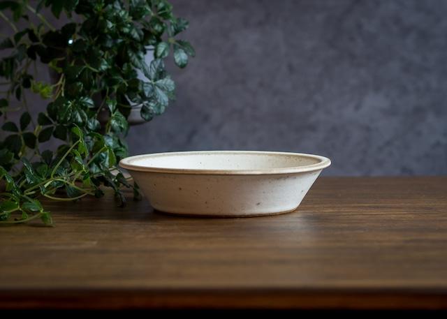 SHIROUMA 浅鉢 18cm 白(深皿・スープボウル・グラタン皿・耐熱皿)/長谷川 哲也