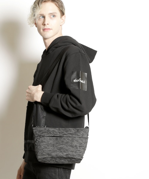 MCC-006【knock through abstraction/ノックスルーアブストラクション】X-filament shoulder bag/クロスフィラメントショルダーバッグ