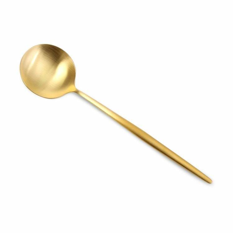 ※12本入 クチポール(Cutipol) MOON MATT/ムーンマット ゴールド ディナースプーン 20%off