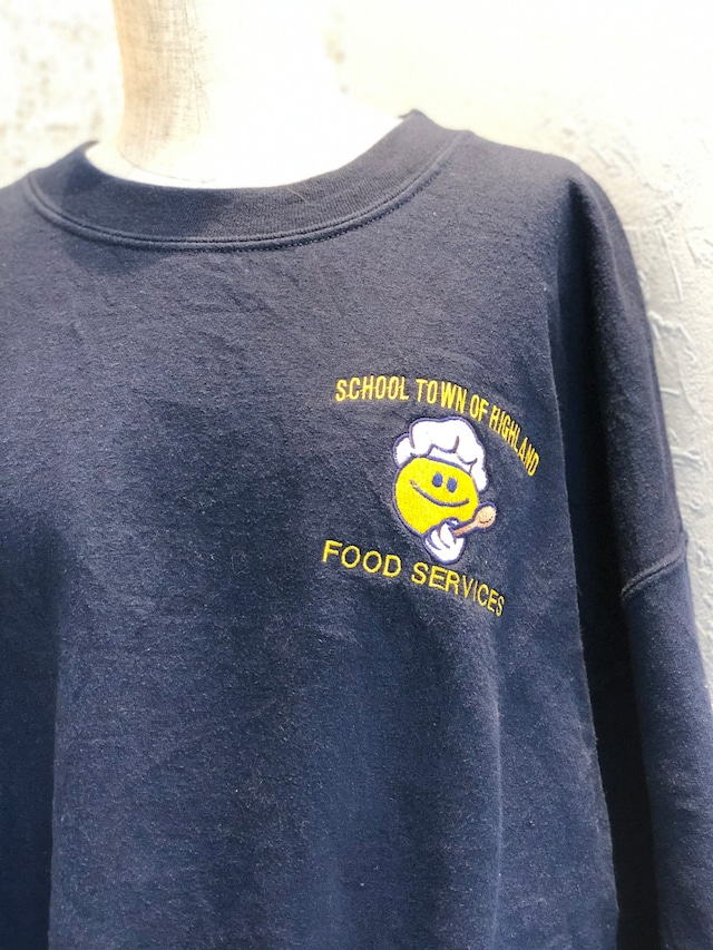 Navy smile patch sweat