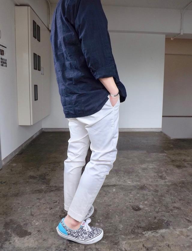 Men's [CM002-66] Pique trouser ストレッチピケトラウザーズ  {オフホワイト} 日本製 アンクルパンツ,メンズ,素材感