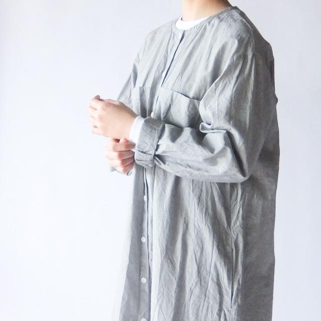 (g) グラム - シャンブレーシャツ ワンピース - Grey