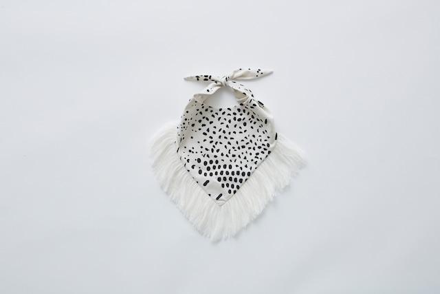 【21SS】eLfinFolk(エルフィンフォルク)QiLIin bib(white)スタイ ビブ
