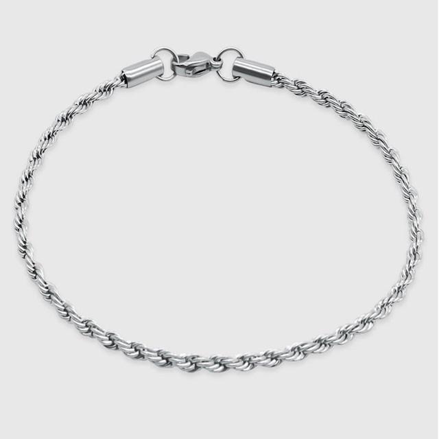 Diamond Cut Chain Bracelet 【3mm/SILVER】