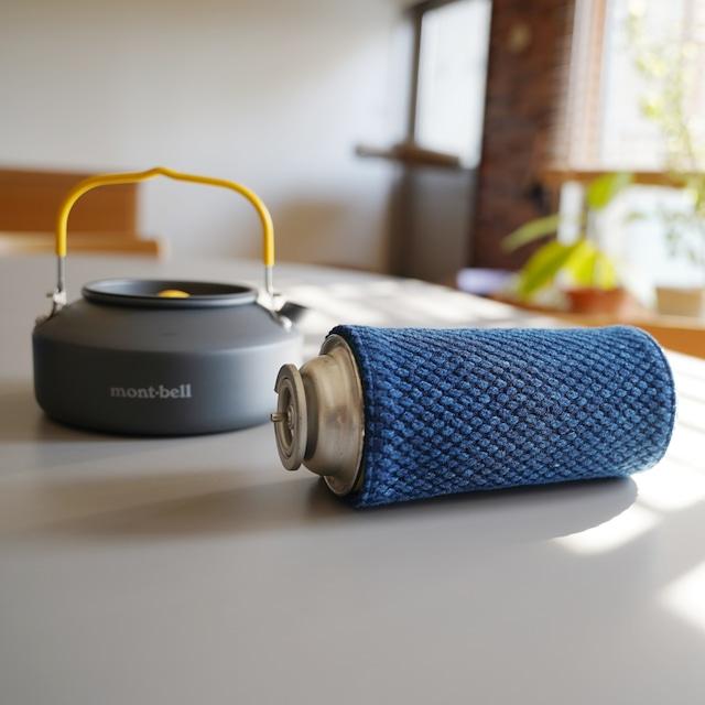 うしじま縫製 | 武州正藍染 CB缶(カセットボンベ缶)カバー 二重刺子 ブルー