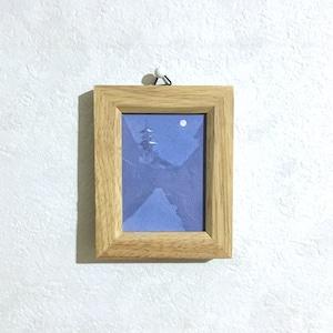 【送料無料 絵画】『興福寺五重塔-もちいどのから望む-』 7.5㎝×10㎝ 額入り