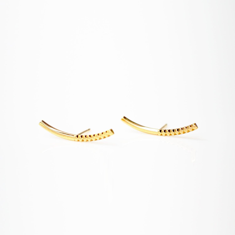 Rock Gold Earrings / Pair(E205-YG)