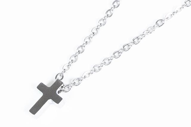 【316L cross necklace】 / SILVER
