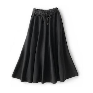 SYSORUS ギャザーウエストニットスカート 801029
