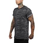 【ASRV】CottonPlus™ メッシュバックロールスリーブTシャツ - Black Camo