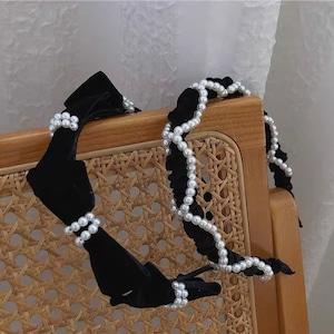 velour pearl head accessory set
