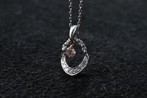 ピンクダイヤモンド ネックレス0.102ct  / PT900,K18PG
