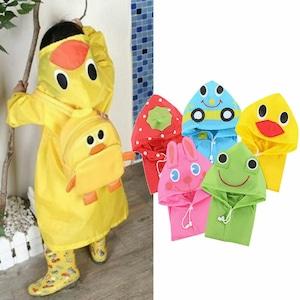 【即納】子供 レインコート 【黄色いあひる】 S526