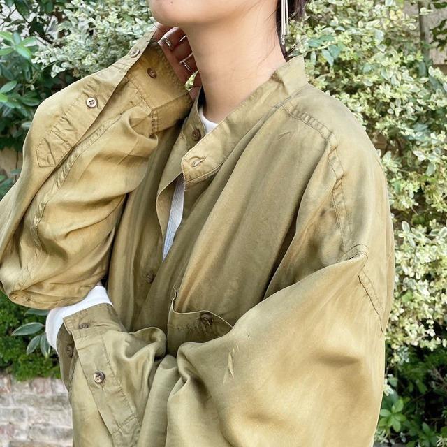 """USED """" ls silk shirt / ロングスリーブシルクシャツ """""""