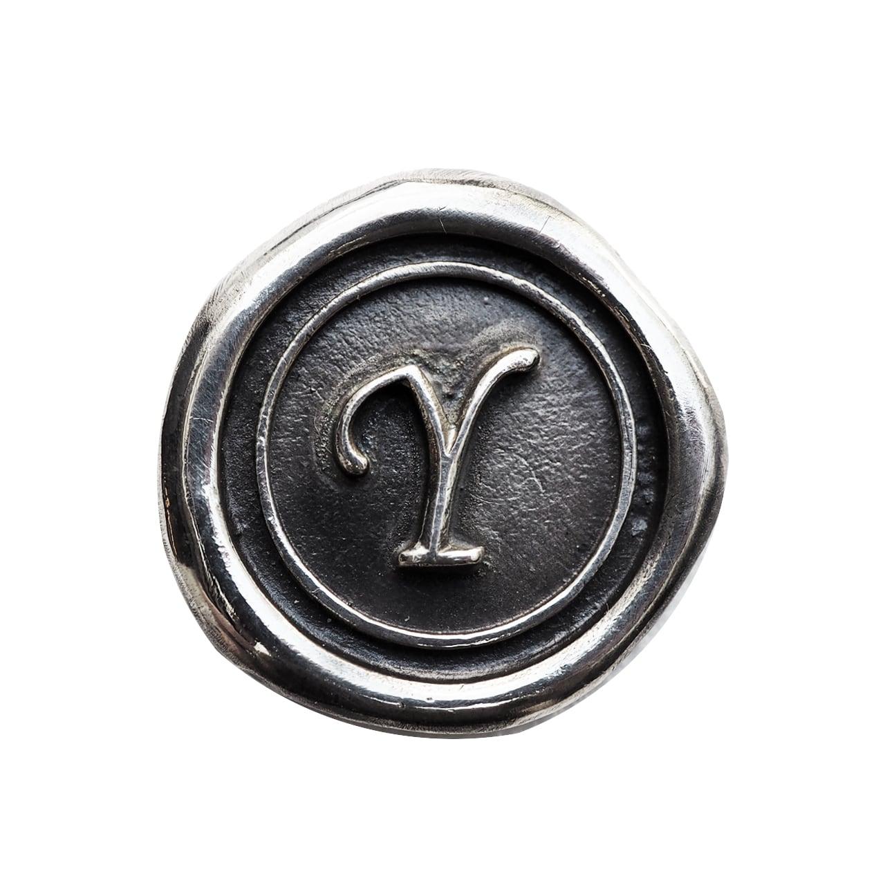 シーリングイニシャル S 〈Y〉 シルバー / コンチョボタン