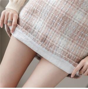 全3色ガーリーチェック柄ミニスカート
