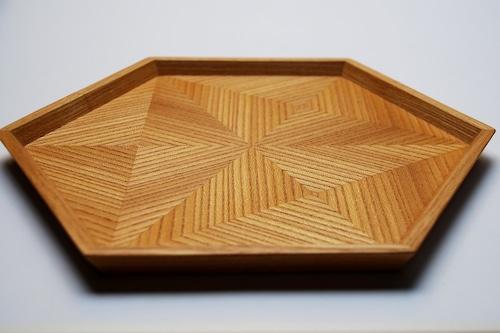 楡 hexagonal tray 0034