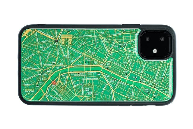 FLASH Paris回路地図 iPhone 11 ケース  緑【東京回路線図A5クリアファイルをプレゼント】
