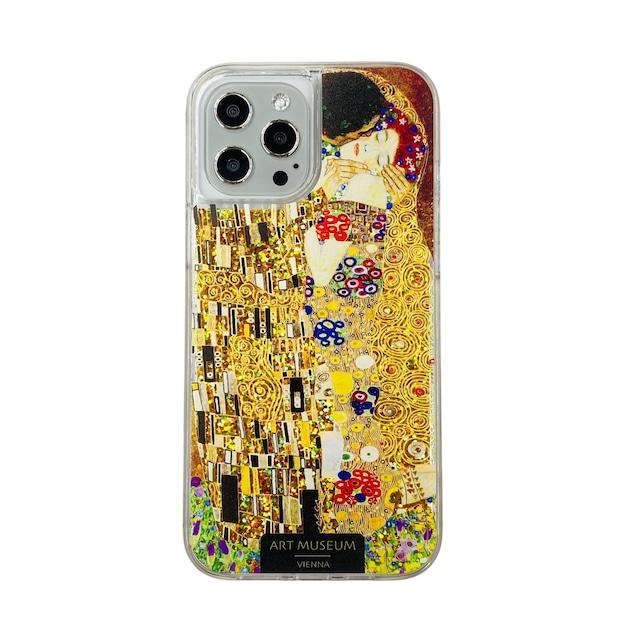 ARTiFY iPhone 12 Pro Max グリッターケース クリムト キス ゴールド AJ00625
