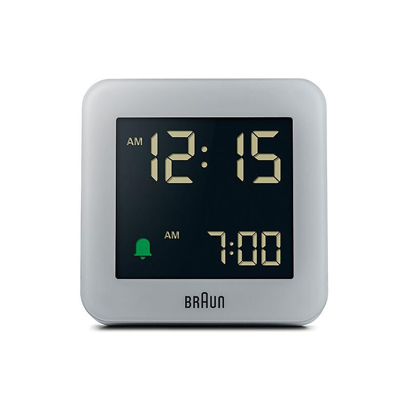 BRAUN (ブラウン) Digital Clock 100th Anniversary BC09G【グレー】