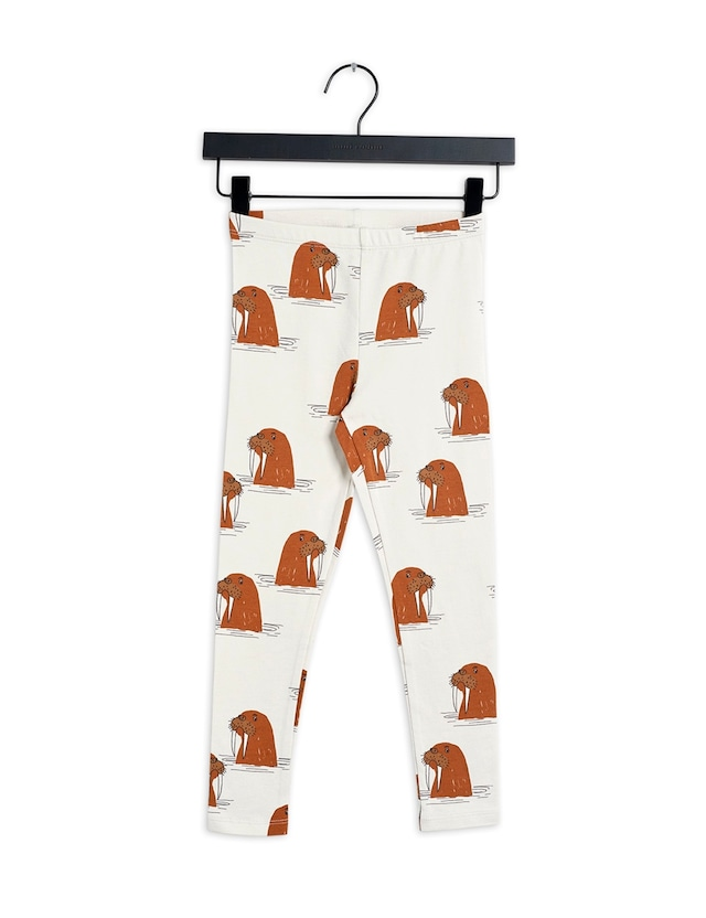 【21AW】 minirodini ( ミニロディーニ )  Walrus aop leggings レギンス gray