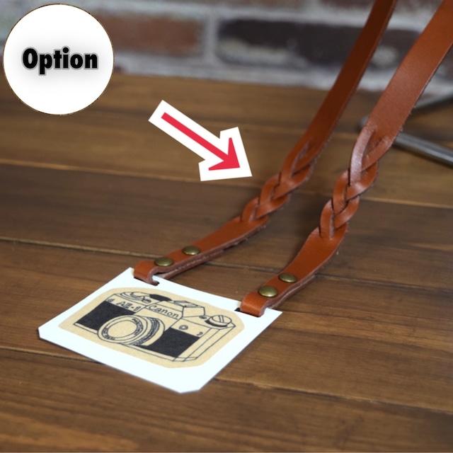 【オプション】カメラストラップの三つ編み加工   (KA132f0)
