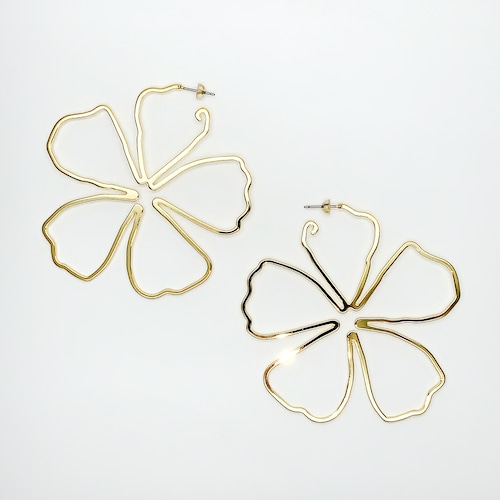 defi flower line ピアス