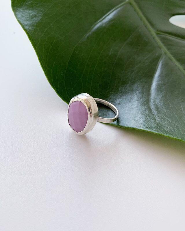Phosphodorite silver ring      OBH-009