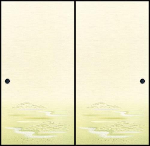 吉兆117(1枚柄) 織物ふすま紙 203cm×100cm 1枚