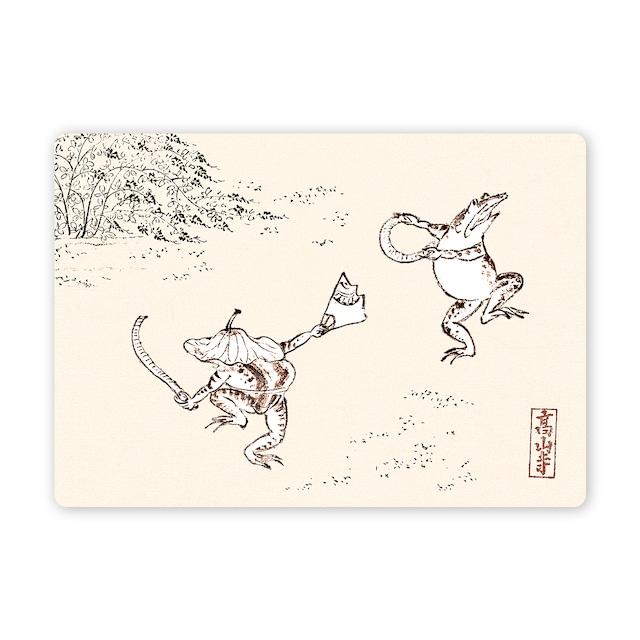 多目的カード 鳥獣戯画ささらおどり